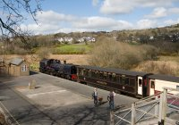 NGG16 84 and Pullman carriage Glaslyn at Waunfawr