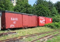 Boxcars at museum