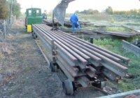 Rail train on heavy bogies