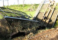 Poorly maintained track results in derailments.