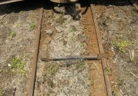 Over gauge by 132mm, just over 5 inches! Poorly maintained track results in derailments.