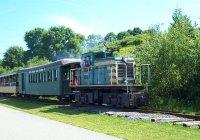 Passenger train at East End Beach