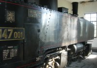 steam loco in shed at Nova Bystrice
